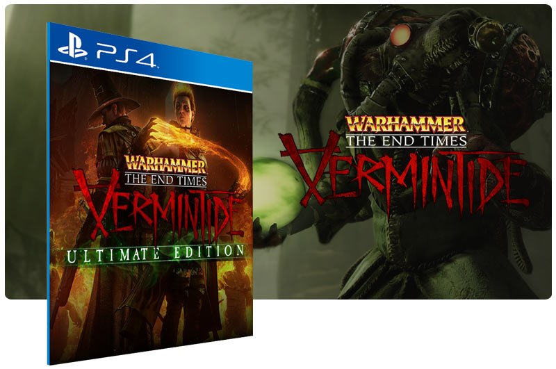 Banner do game Warhammer Vermintide The Ultimate Edition em mídia digital para PS4