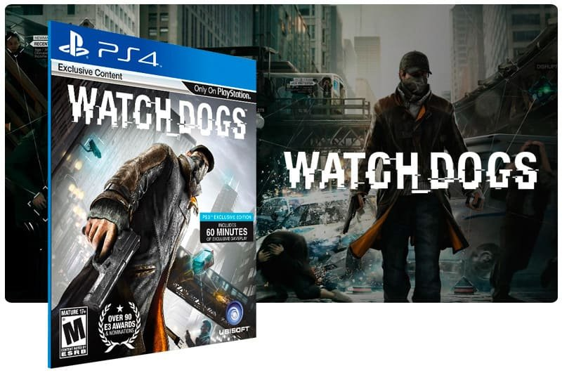Banner do game Watch Dogs para PS4