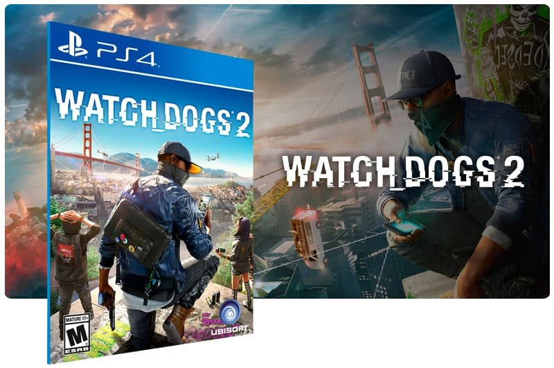 Banner do game Watch Dogs 2 para PS4
