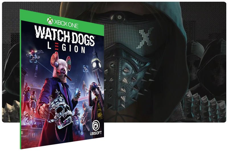 Banner do game Watch Dogs: Legion em mídia digital para Xbox One