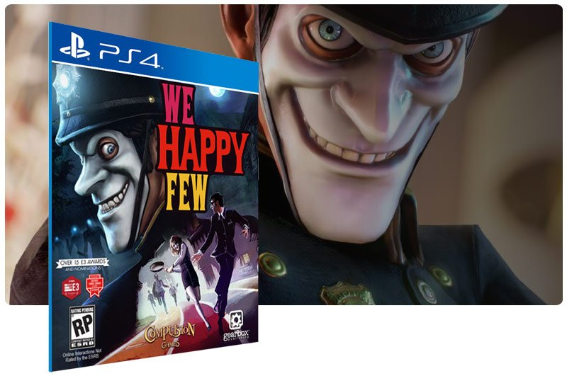 Banner do game We Happy Few para PS4