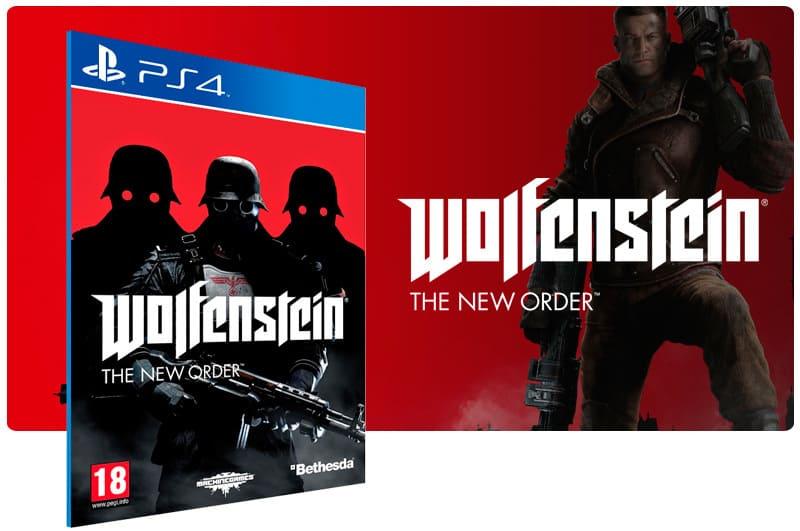 Banner do game Wolfenstein para PS4