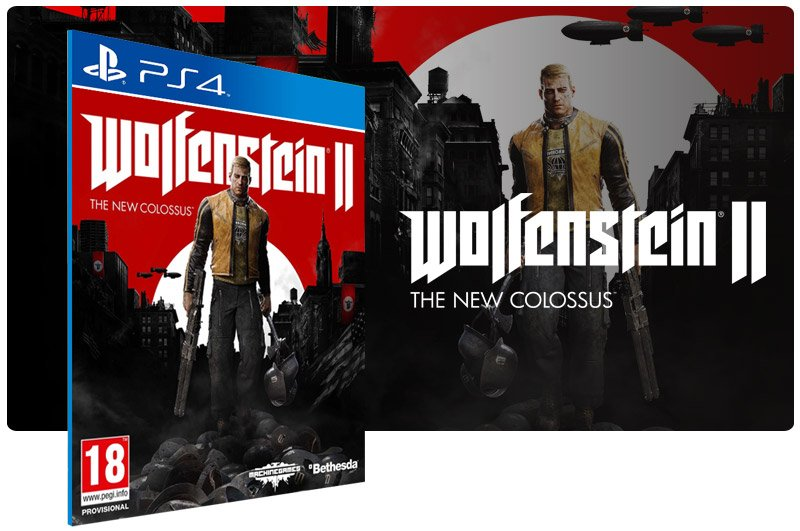 Banner do game Wolfenstein 2 The New Colossus para PS4