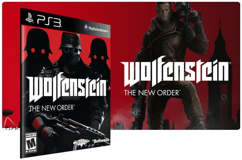 Banner do game Wolfenstein The New Order para PS3