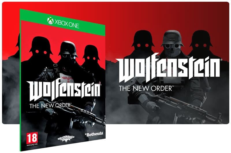 Banner do game Wolfenstein: The New Order em mídia digital para Xbox One