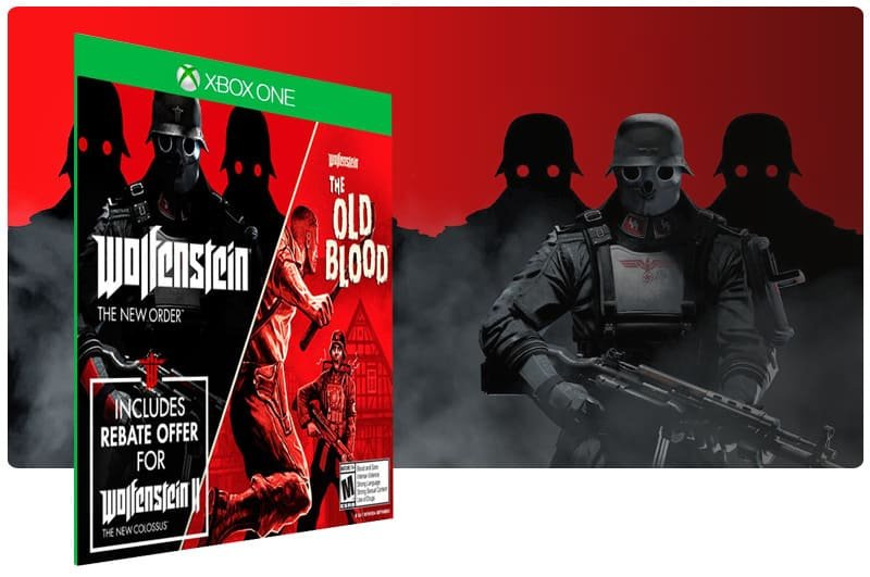 Banner do game Wolfenstein: The Two Pack em mídia digital para Xbox One