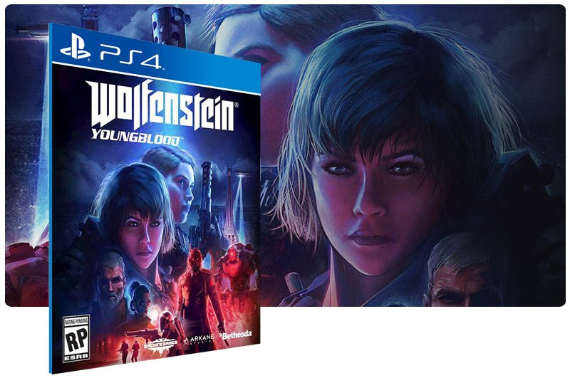 Banner do game Wolfenstein: Youngblood para PS4