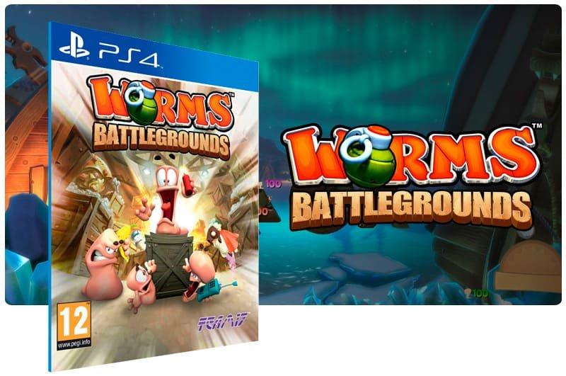 Banner do game Worms Battlegrounds para PS4