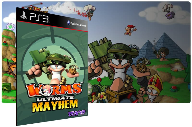 Banner do game Worms Ultimate Mayhem para PS3