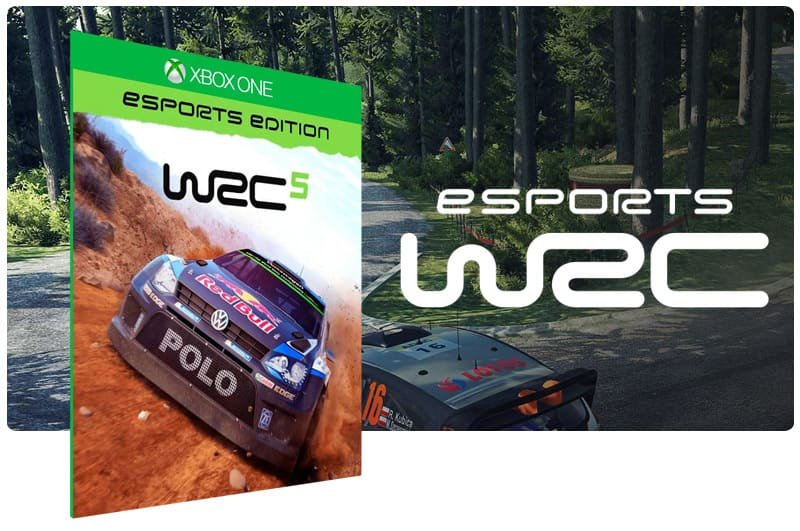 Banner do game WRC 5: Esports Edition em mídia digital para Xbox One