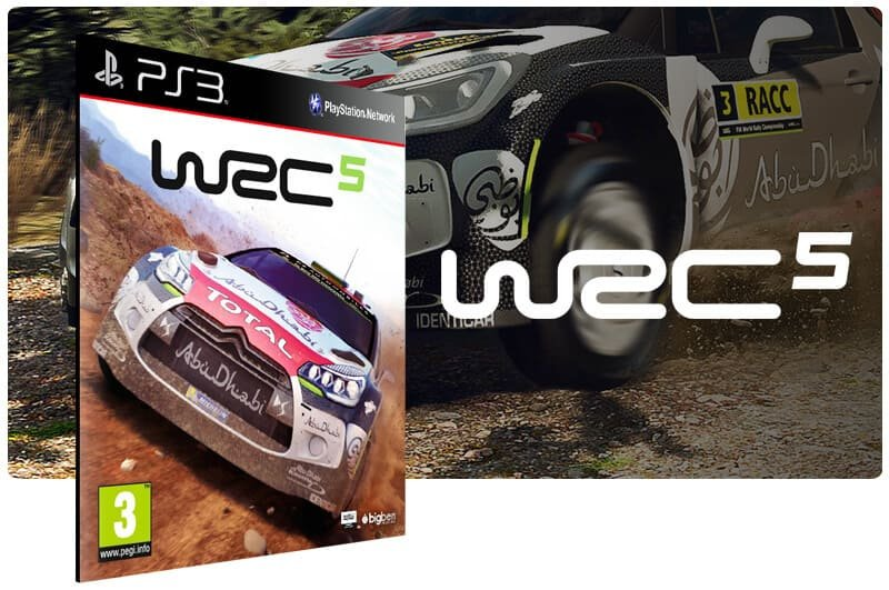 Banner do game WRC 5 Fia World Rally Championship para PS3