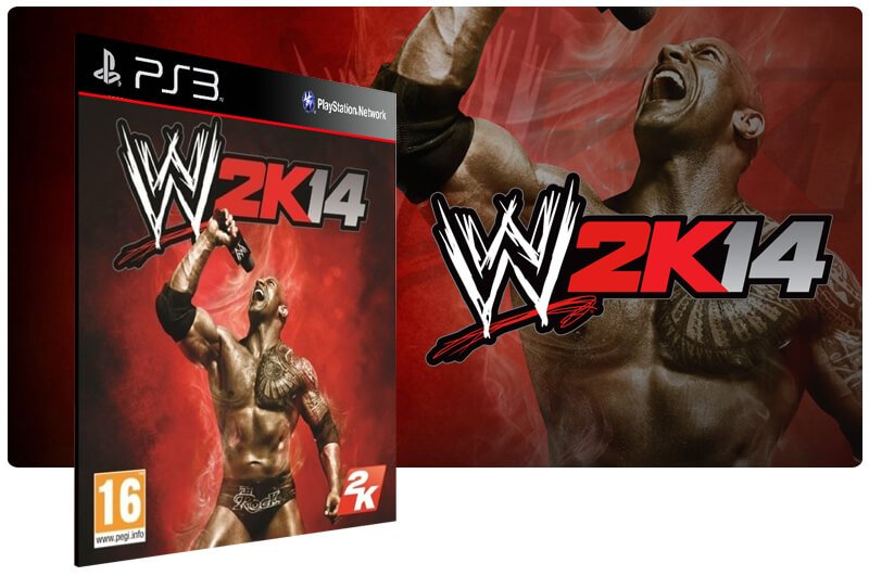 Banner do game WWE 2K14 para PS3