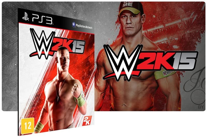 Banner do game WWE 2K15 para PS3