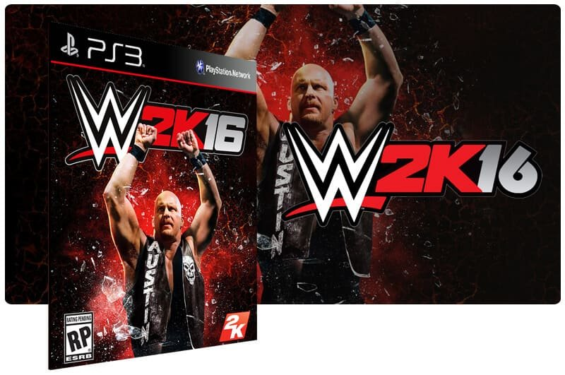 Banner do game WWE 2K16 para PS3