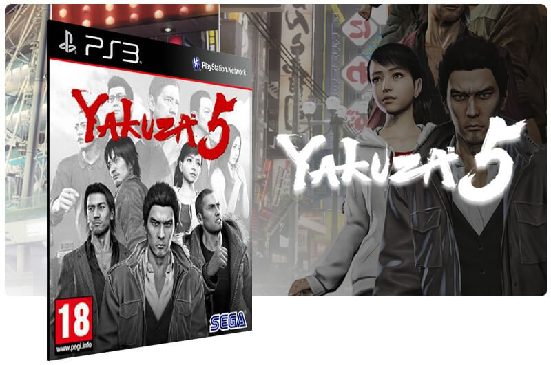 Banner do game Yakuza 5 para PS3