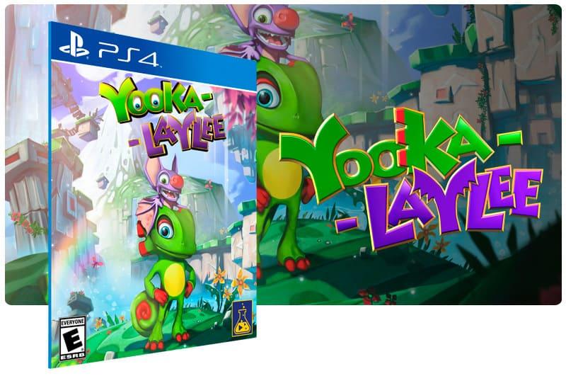 Banner do game Yooka Laylee para PS4