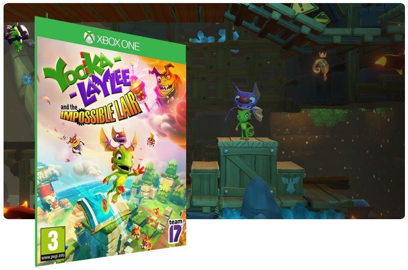 Banner do game Yooka-Laylee and the Impossible Lair em mídia digital para Xbox One
