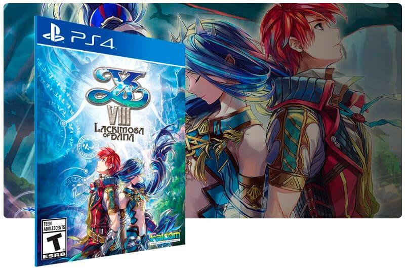 Banner do game Ys VIII Lacrimosa of DANA para PS4