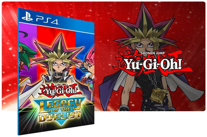 Banner do game Yu Gi Oh! Legacy of The Duelist para PS4