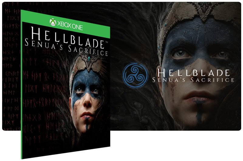 Banner do game Hellblade Senua's Sacrifice em mídia digital para Xbox One