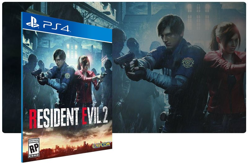Banner do game RESIDENT EVIL 2 para PS4