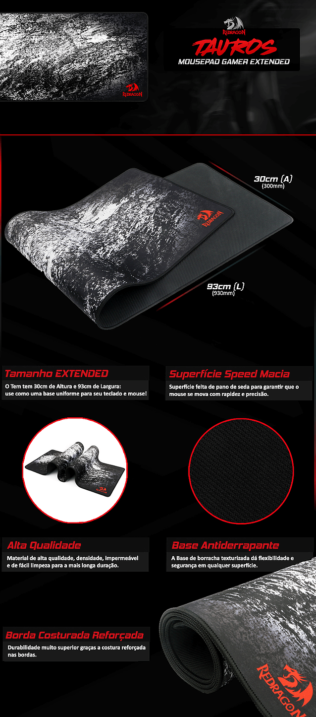 mousepad-gamer-redragon-taurus