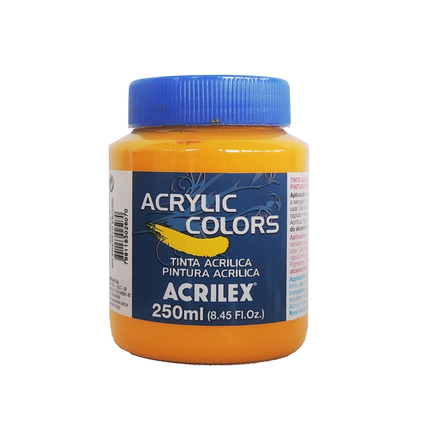 Tinta-Acrilica-acrilex-250-ml-Grupo-2-302-Amarelo
