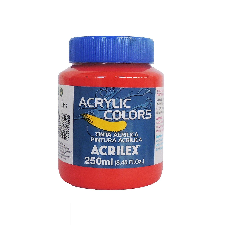 tinta-acrilica-acrilex-250ml-grupo-2-312-vermelho-cadmio
