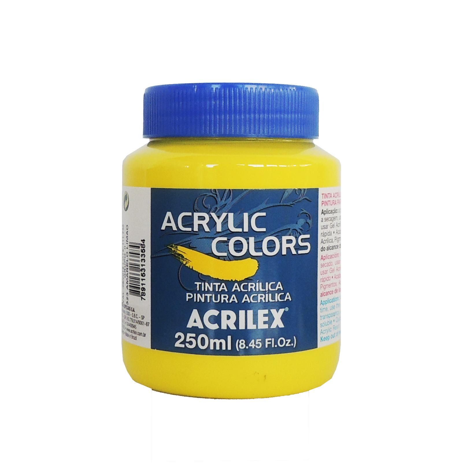 tinta-acrilica-acrilex-250ml-grupo-2-323-amarelo-limao