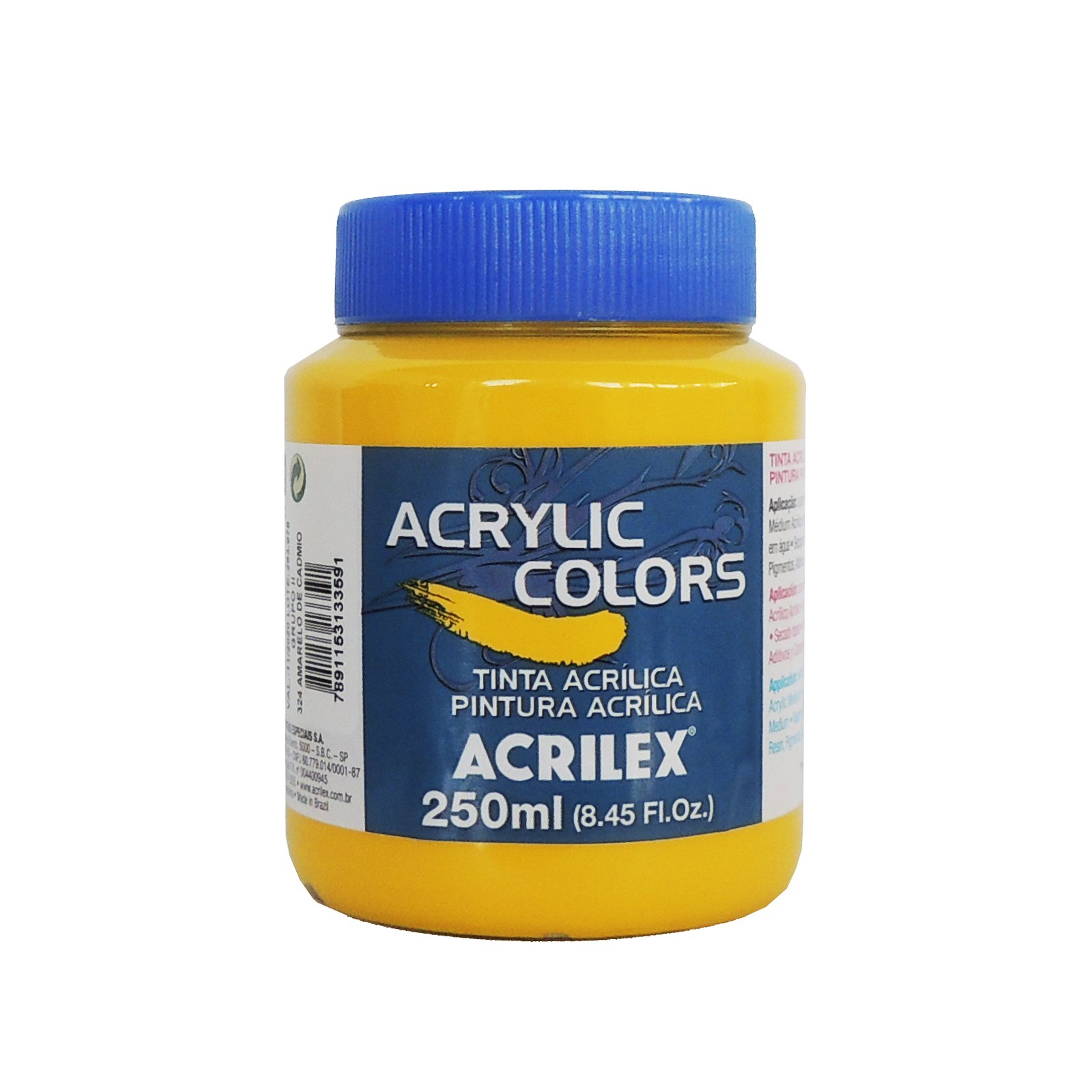 tinta-acrilica-acrilex-250ml-grupo-2-324-amarelo-cadmio