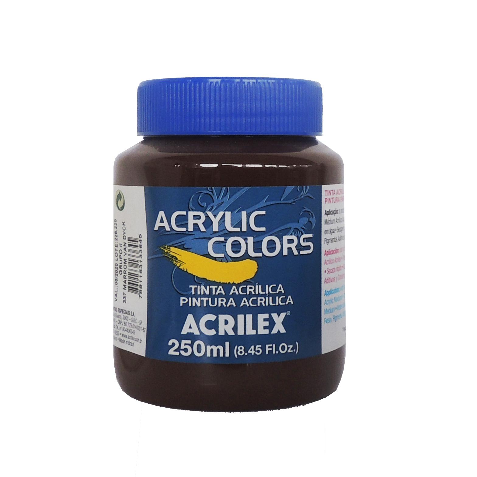 tinta-acrilica-acrilex-250ml-grupo-2-337-marrom-van-dyck