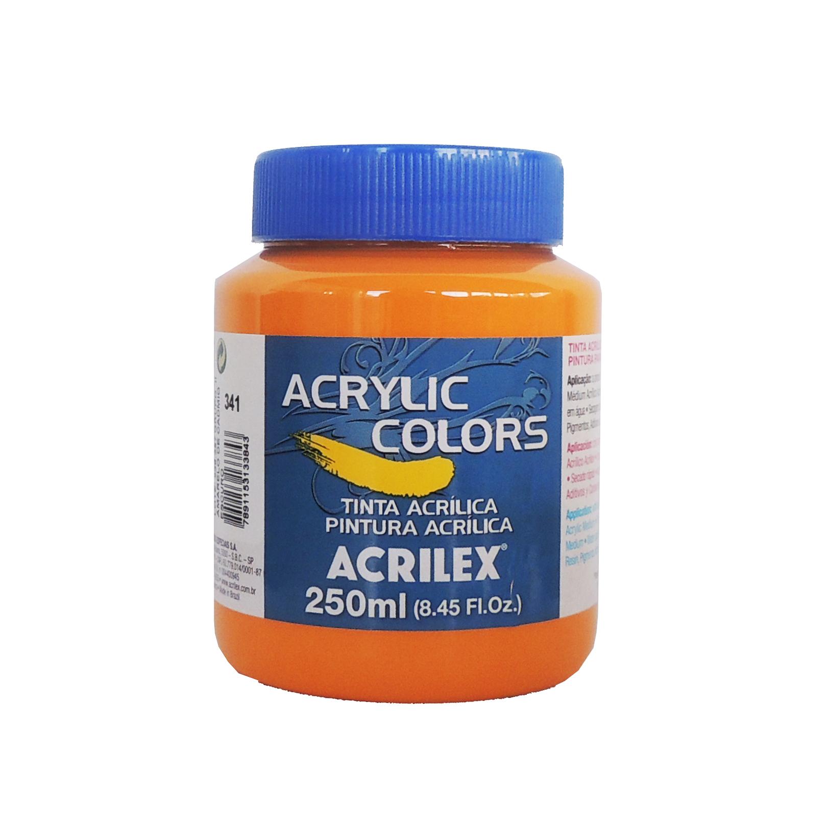 tinta-acrilica-acrilex-250ml-grupo-2-341-amarelo-cadmio-escuro
