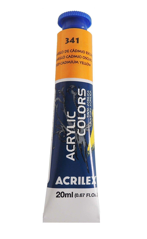 tinta-acrilica-20ml-341-amarelo-cadmio-escuro