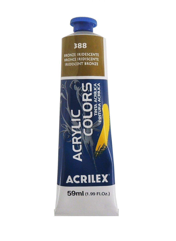 tinta-acrilica-metalica-acrilex-59ml-388-bronze-iridescente