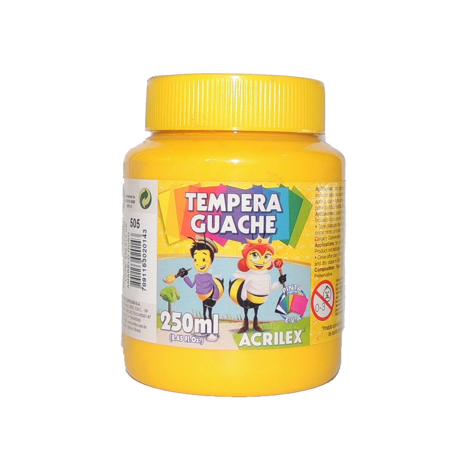 tempera-guache-250ml-505-amarelo-ouro