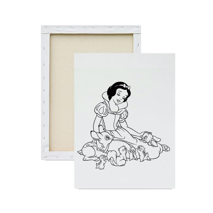 Tela-para-pintura-infantil-princesa-e-os-animais