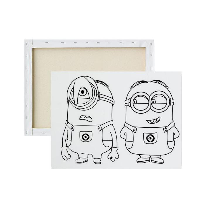 Tela-para-pintura-infantil-minions-e-amigos