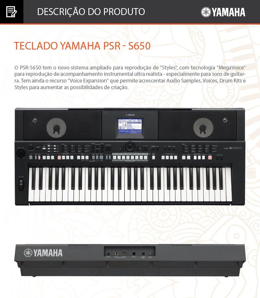 O PSR-S650 tem o novo sistema ampliado para reprodução de