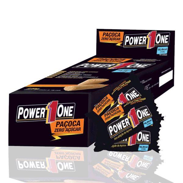 cea2b2397 Paçoca ZERO (24 Unidades) Power One - Barato Suplementos