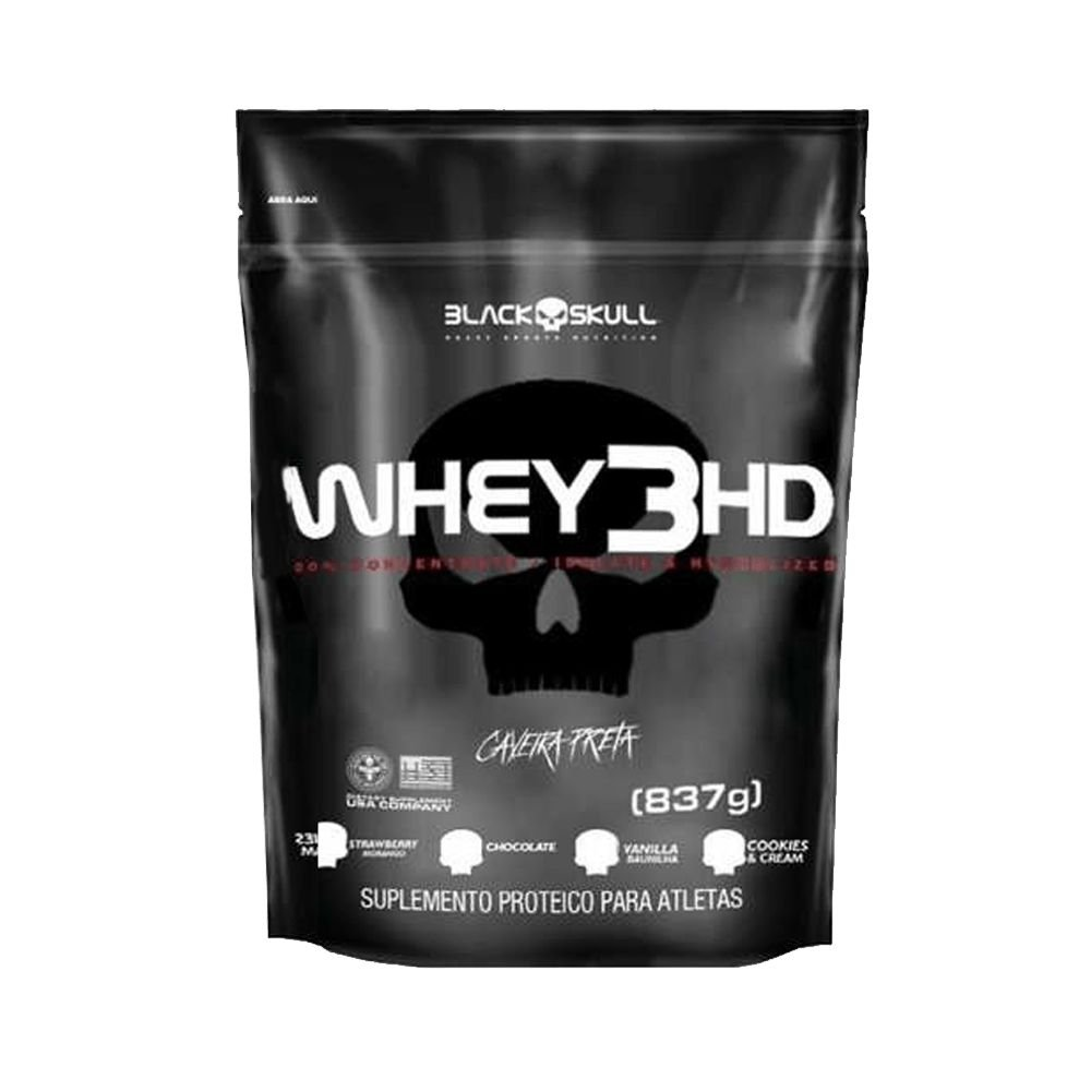 3c889d8e4 Whey 3HD (837gr) Black Skull