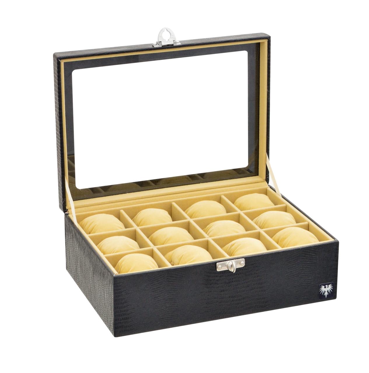 estojo-couro-ecologico-12-relogios-preto-bege-porta-caixa-imagem-10.jpg