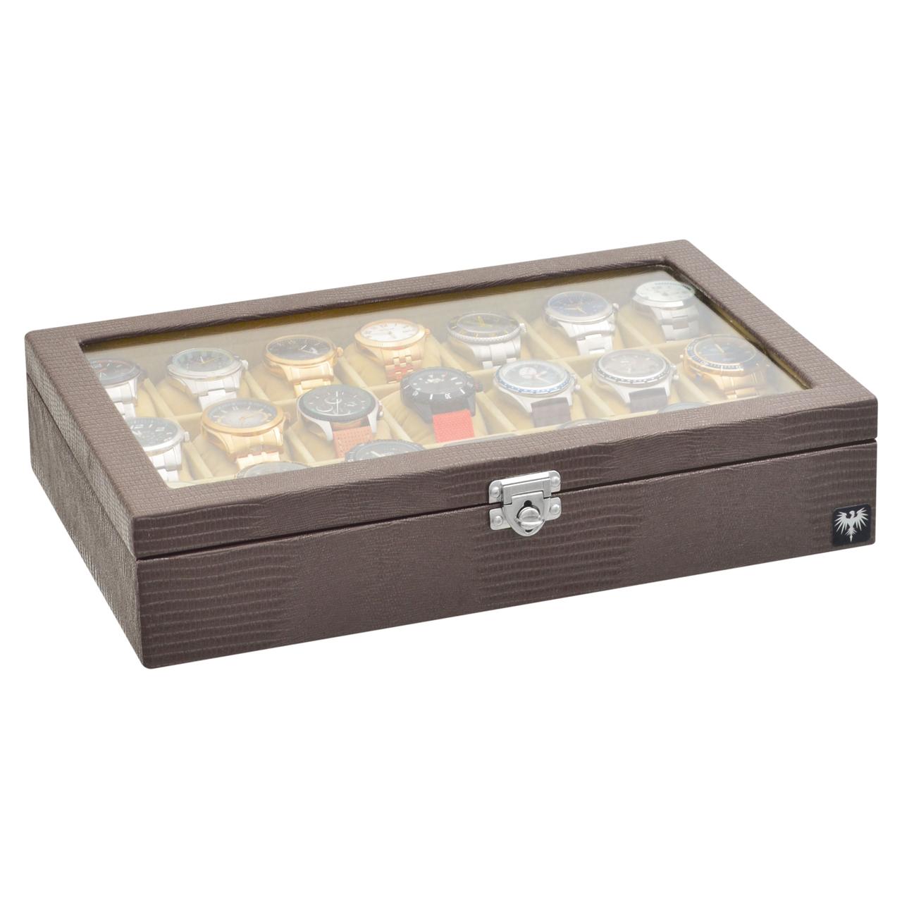 estojo-couro-ecologico-21-relogios-marrom-bege-porta-caixa-imagem-10.jpg