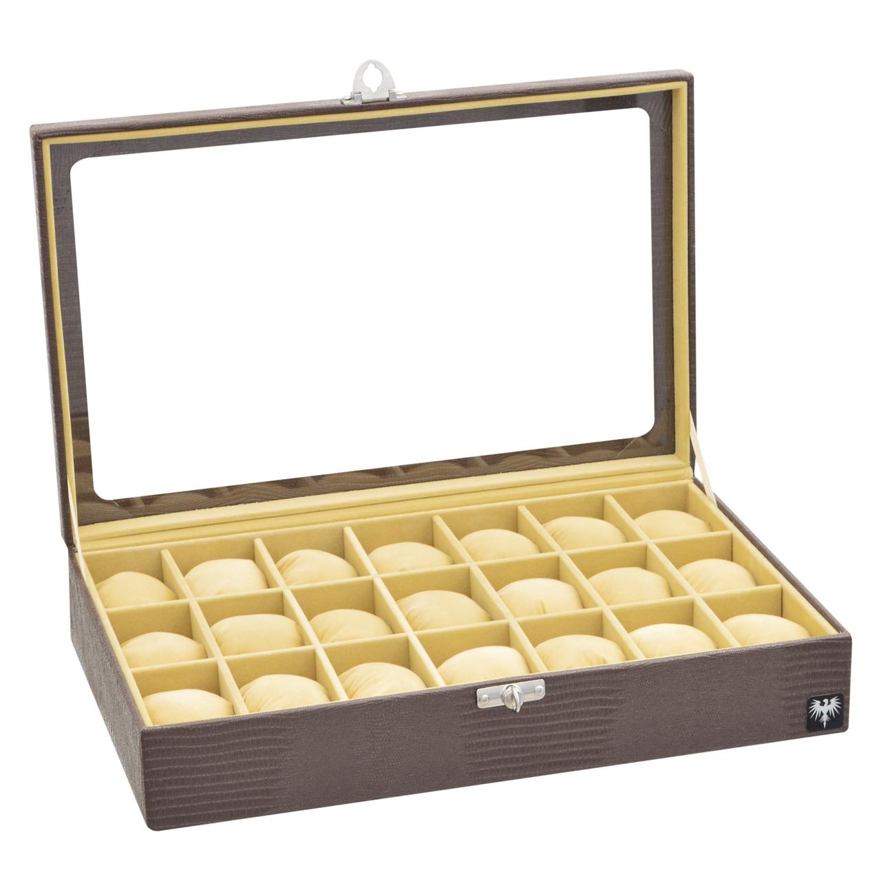 estojo-couro-ecologico-21-relogios-marrom-bege-porta-caixa-imagem-5.jpg