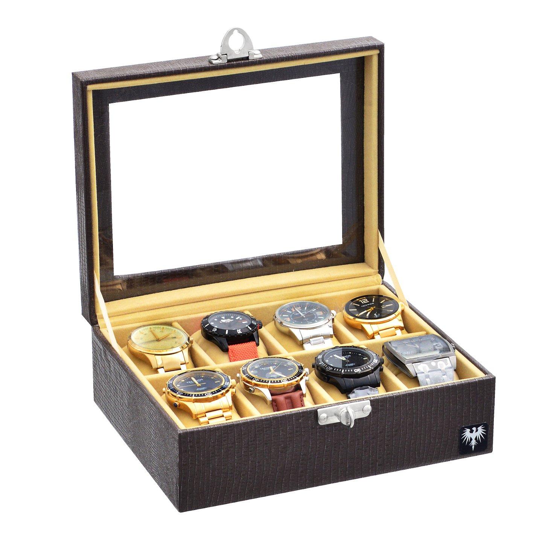 estojo-couro-ecologico-8-relogios-marrom-bege-porta-caixa-imagem-1.JPG