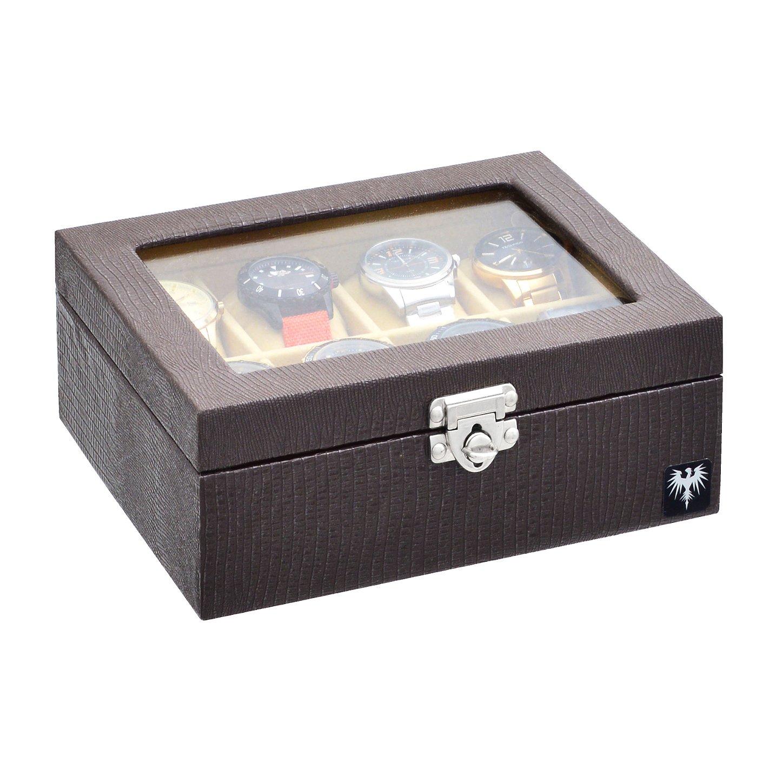 estojo-couro-ecologico-8-relogios-marrom-bege-porta-caixa-imagem-2.JPG