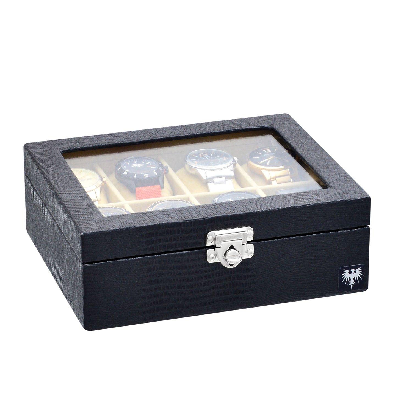 estojo-couro-ecologico-8-relogios-preto-bege-porta-caixa-imagem-2.jpg