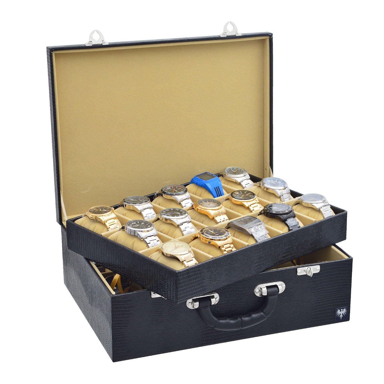 maleta-porta-relogio-30-nichos-couro-ecologico-preto-bege-imagem-1.JPG