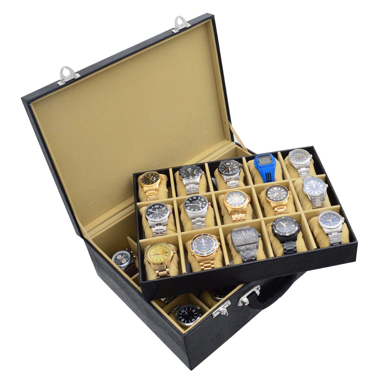 maleta-porta-relogio-30-nichos-couro-ecologico-preto-bege-imagem-3.JPG