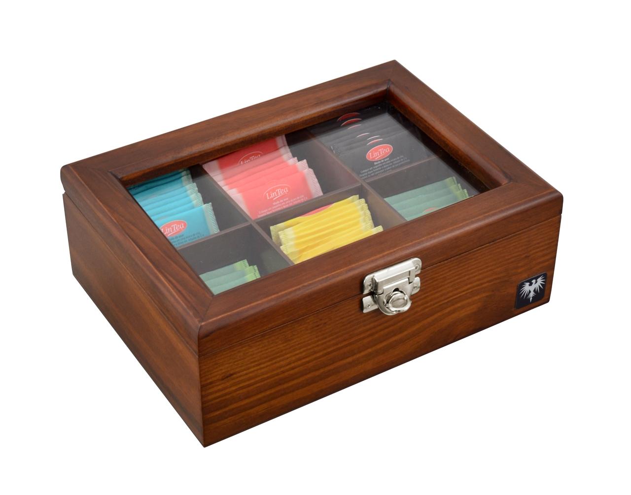 porta-cha-6-casulos-madeira-macica-tabaco-caixa-de-cha-imagem-2.JPG
