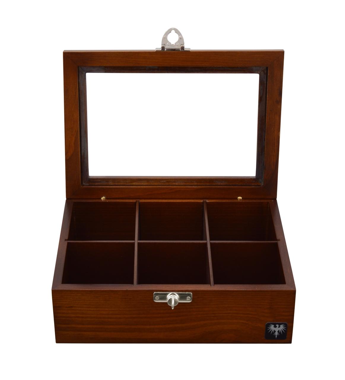 porta-cha-6-casulos-madeira-macica-tabaco-caixa-de-cha-imagem-3.JPG